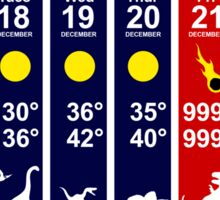 Dinosaur Extinction Weather Forecast Sticker