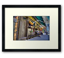 Traditional shop front Spittlafields London HDR Framed Print