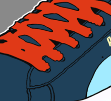 PUMA SE: NAVY BLUE W/ ORANGE LACES (TRI-COLOR) Sticker