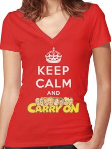 Keep Sid Women's Fitted V-Neck T-Shirt