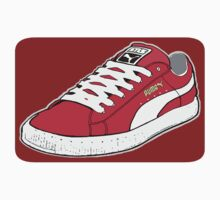 PUMA SE: RED W/ WHITE LACES by SOL  SKETCHES™