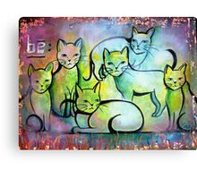 Cat Painting BE Animal Advocacy Canvas Print