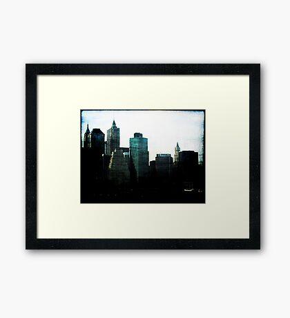 New York Facades Framed Print