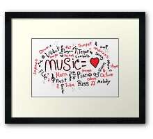 Music = Love Framed Print