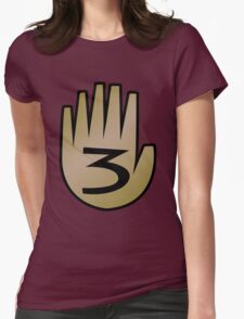 3 Hand Book From Gravity Falls Womens Fitted T-Shirt