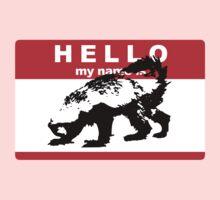 Hello My Name Is Honey Badger sticker Baby Tee