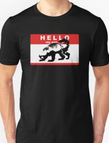 Hello My Name Is Honey Badger sticker Unisex T-Shirt