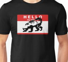 Hello My Name Is Honey Badger sticker Unisex T-Shirt