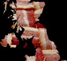 United Kingdom - British Bacon Map - Woven Strips Sticker