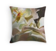 White Roses Throw Pillow
