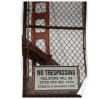 No Trespassing Poster