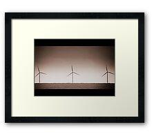 Chasing Windmills Framed Print