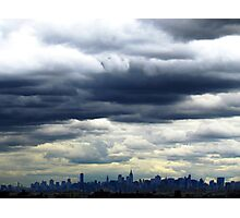 Cloudy in New York City Photographic Print
