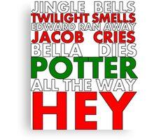 Harry Potter Jingle Bells Canvas Print