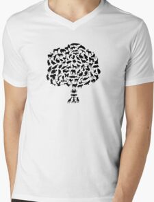 Animal Tree Mens V-Neck T-Shirt