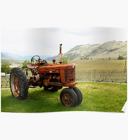 Wine Tractor Poster