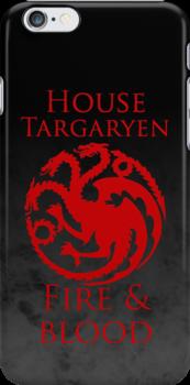 House Targaryen iPhone Case by Alexandra Grant