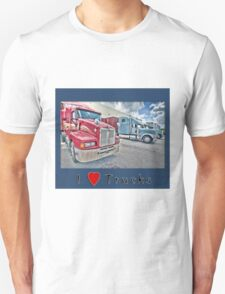 I Love Trucks-2 T-Shirt