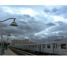 Subway on a cloudy day, New York City Photographic Print