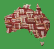 Australia - Australian Bacon Map - Woven Strips Baby Tee