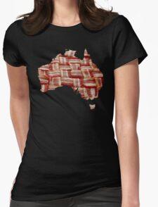 Australia - Australian Bacon Map - Woven Strips Womens Fitted T-Shirt