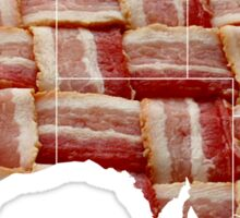 Australia - Australian Bacon Map - Woven Strips Sticker