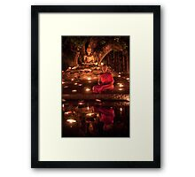 Meditating Monk Framed Print
