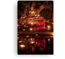 Meditating Monk Canvas Print