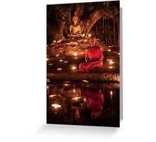 Meditating Monk Greeting Card