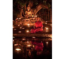Meditating Monk Photographic Print