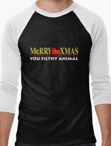 Merry Xmas You Filthy Animal Men's Baseball ¾ T-Shirt