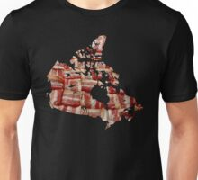 Canada - Canadian Bacon Map - Woven Strips Unisex T-Shirt