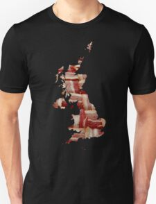 United Kingdom - British Bacon Map - Woven Strips T-Shirt