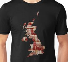 United Kingdom - British Bacon Map - Woven Strips Unisex T-Shirt