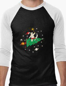 Space Christmas Men's Baseball ¾ T-Shirt