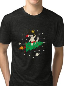 Space Christmas Tri-blend T-Shirt