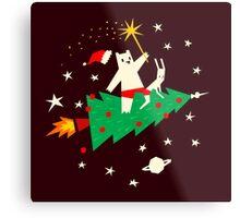 Space Christmas Metal Print