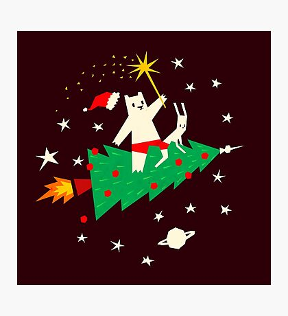 Space Christmas Photographic Print