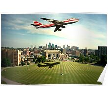 TWA Fly Over Kansas City Poster