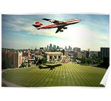TWA Fly Over Kansas City Poster