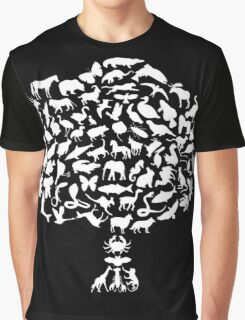Animal Tree Graphic T-Shirt