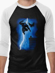The Blue Mite Returns Men's Baseball ¾ T-Shirt