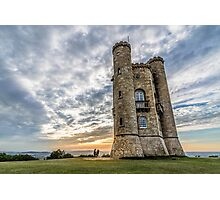 The tower of Broadway at sunset. The Cotswolds Photographic Print