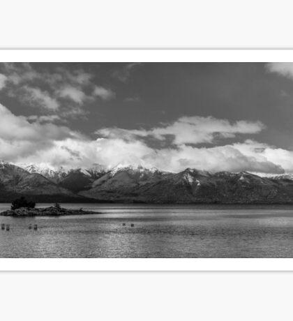 Lake Nahuel Huapi, Patagonia, Argentina (Black & white) Sticker