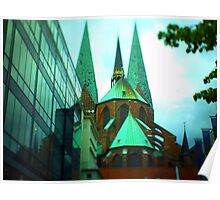City steeples Poster