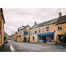 Bourton on the Water street, The Cotswolds Photographic Print