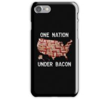 One Nation Under Bacon - USA - American Bacon Map iPhone Case/Skin