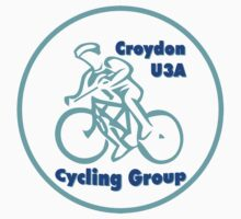 Croydon U3A Cycling Group T-shirt design for dark colour background by Paul Kiesskalt