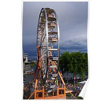 Ferris wheel by the bridge Poster