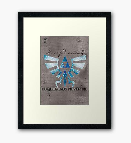 Wind Waker Legend Framed Print